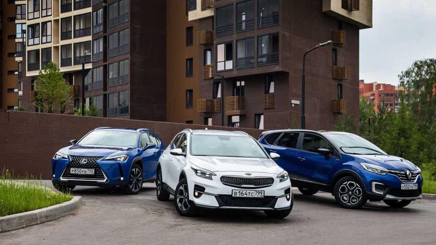 Стираем границы, сталкивая Renault Kaptur с Kia XCeed и Lexus UX