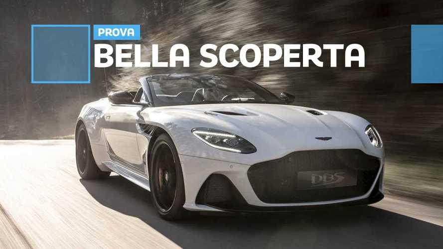 Aston Martin DBS Superleggera Volante, la prova tra curve e rettilinei