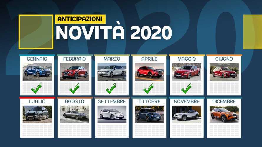 Novità auto 2020, il calendario di tutti i modelli in arrivo entro l'anno