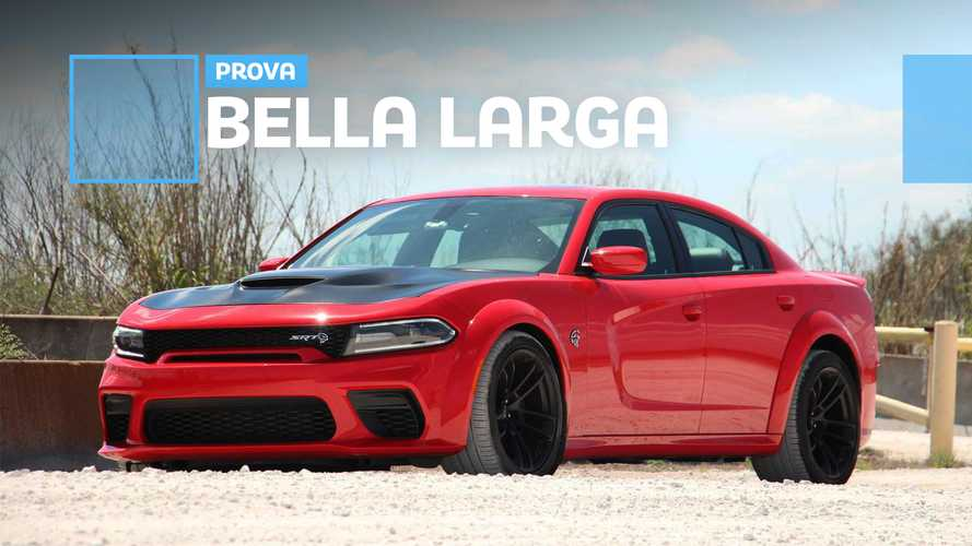 Dodge Charger Hellcat Widebody, la prova con carrozzeria allargata