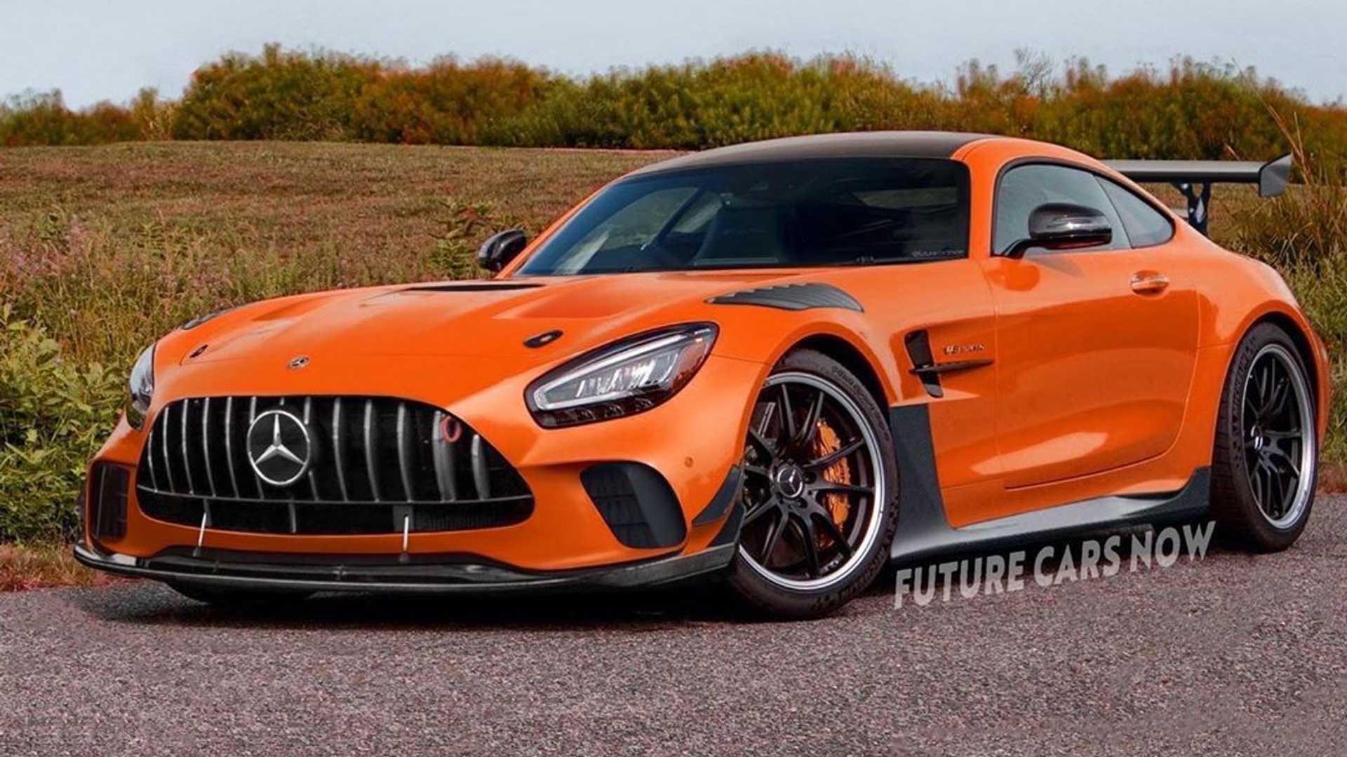 Mercedes-AMG GT Black Series Rendered In Eye-Catching Orange