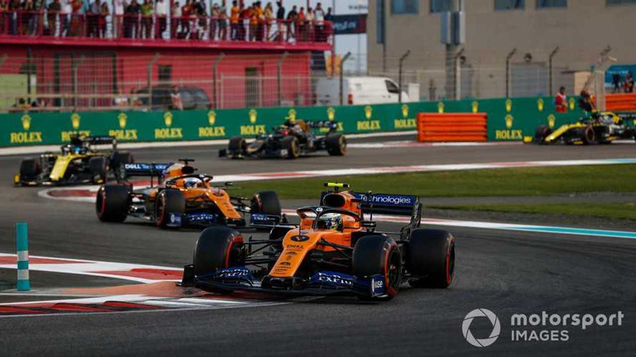 Lando Norris leads at Abu Dhabi GP 2019