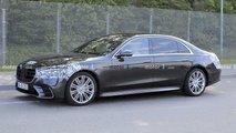 Mercedes S-Klasse (2021) neue Erlkönigbilder mit viel weniger Tarnung