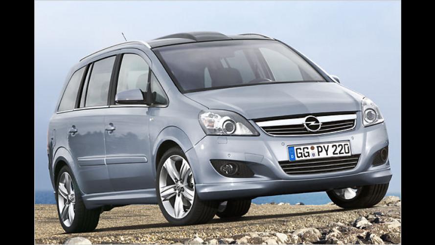 Facegelifteter Opel Zafira: Mehr Kraft zum gleichen Preis