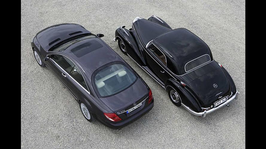Sieben Generationen Mercedes-Coupés von 1951 bis 2006