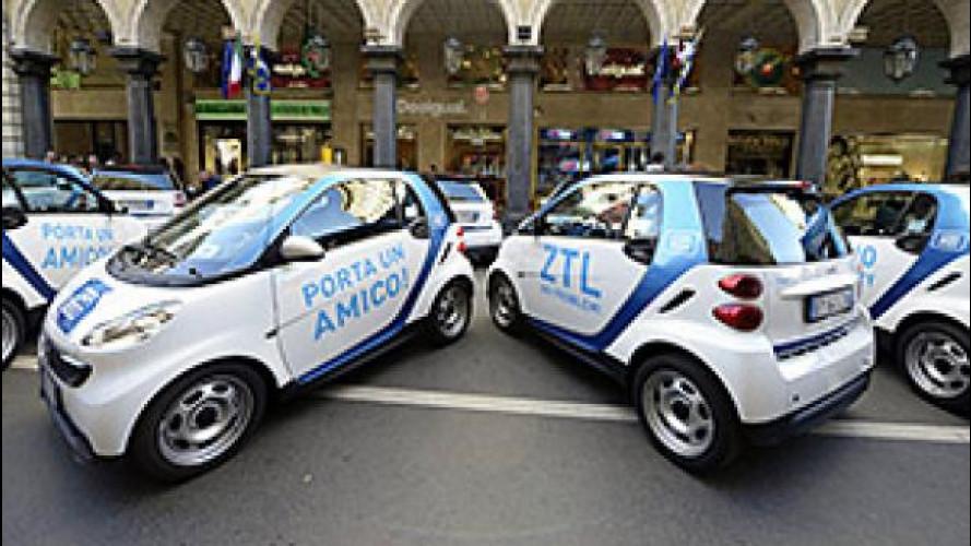 Car2Go, a Torino 10.000 noleggi in un mese