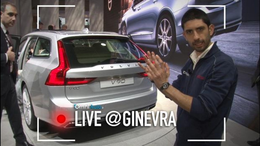 Salone di Ginevra 2016: Volvo V90, la metamorfosi [VIDEO]