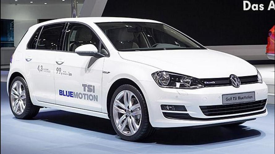 Volkswagen Golf TSI BlueMotion, 3 cilindri piccoli piccoli