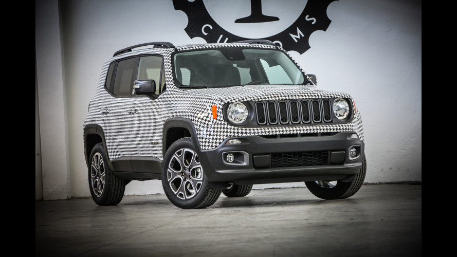 Jeep Renegade, in pied de poule per beneficenza