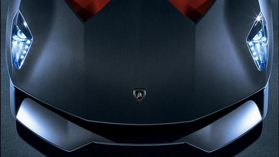 Lamborghini Centenario LP770-4, nera come il carbonio a Ginevra