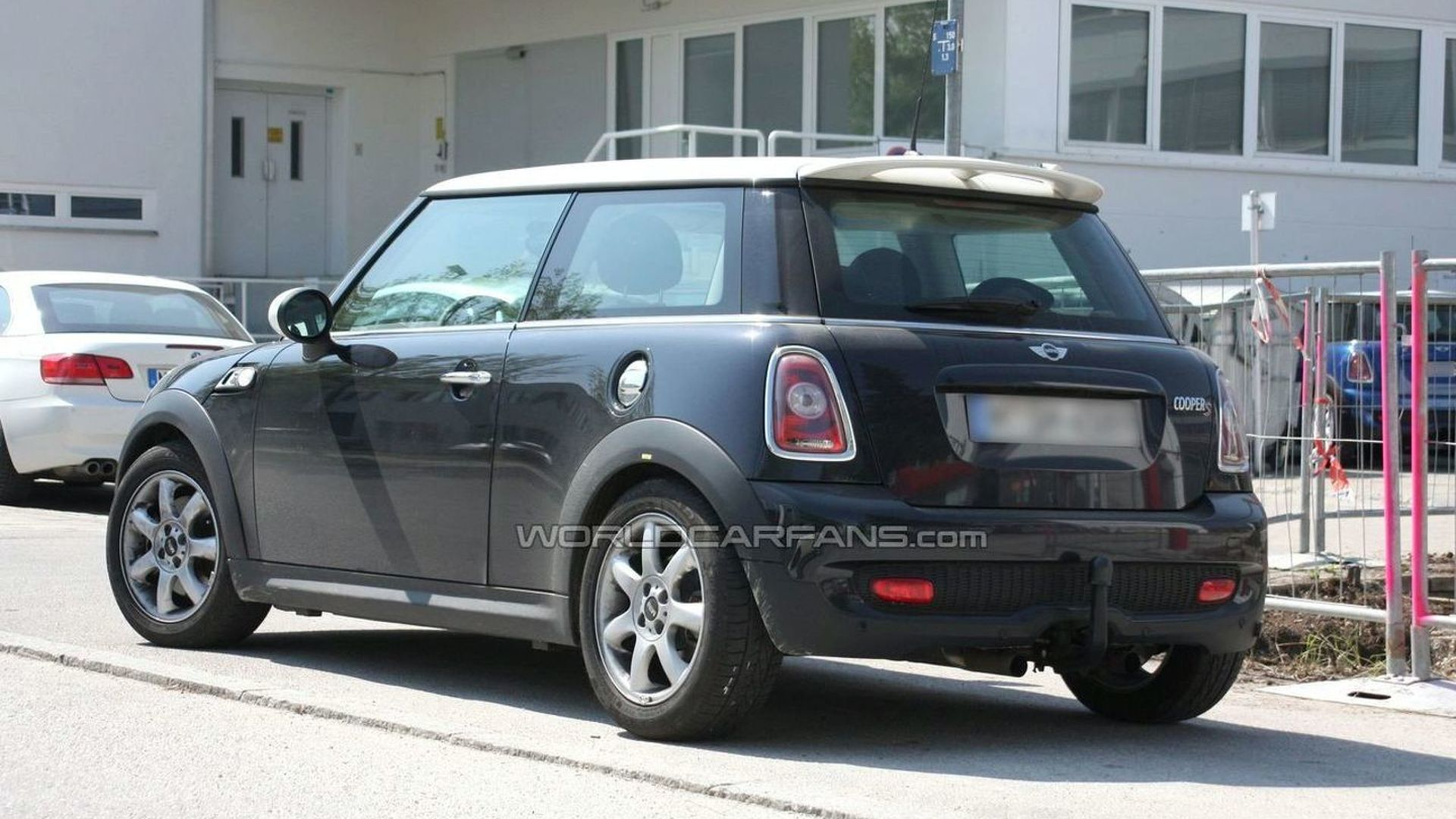 Mini Cooper S Spied With A Tow Hitch And Modified Central