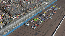 The NASCAR Nationwide Series teams take to the track for the Able Body Labor 200 race at the Phoenix International Raceway in Avondale, AZ on November 14, 2009