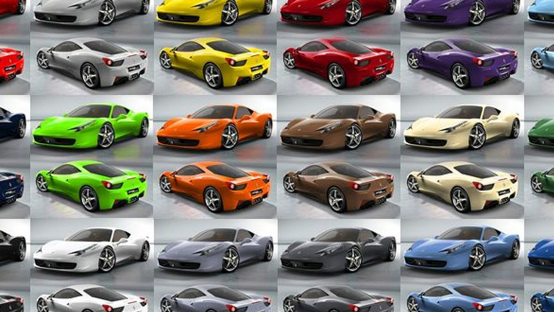 Ferrari 458 colors