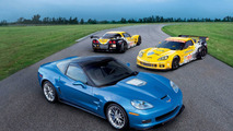 2010 Corvette ZR1 and Corvette C6.R ALMS Race Cars 08.03.2010