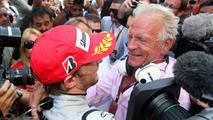 Jenson Button with his father John 24.05.2009 Monaco Grand Prix