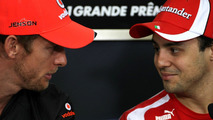 Jenson Button and Felipe Massa 24.11.2011 Brazilian Grand Prix
