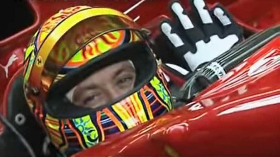 Watch That Time Valentino Rossi Tested A Ferrari Formula One Car