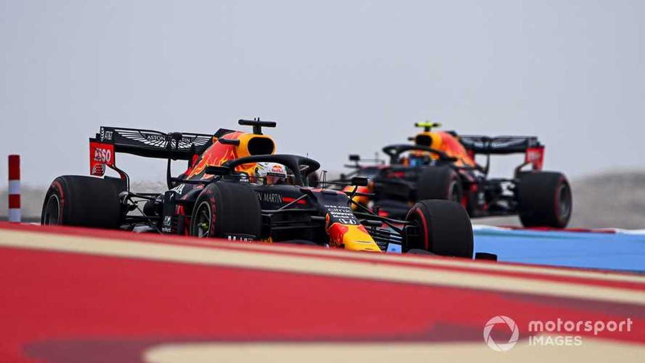 Max Verstappen and Alex Albon at Bahrain GP 2020