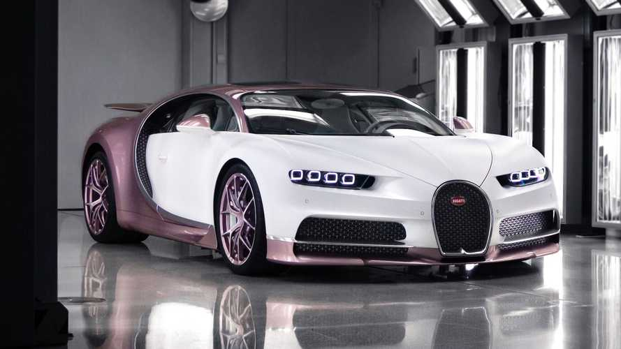 Pink And White Bugatti Chiron 'Alice' Is A Husband's Gift To Wife