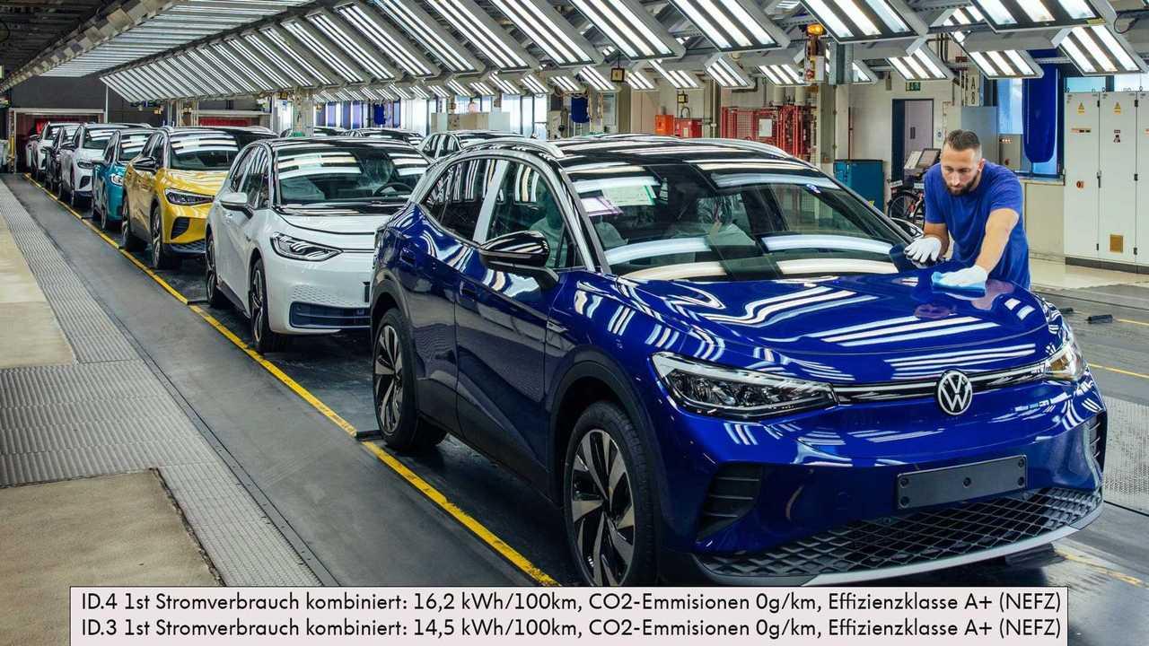 Volkswagen EV production in Zwickau, Germany