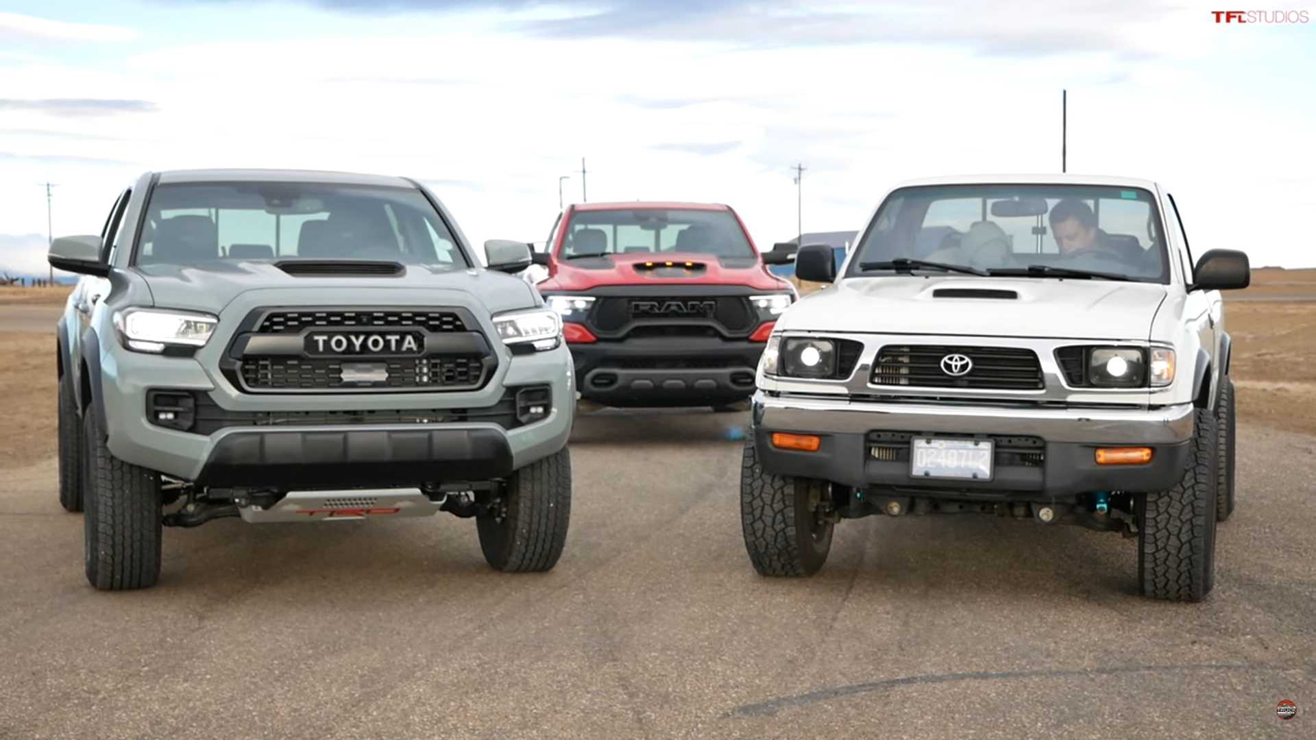 Old Supercharged Toyota Tacoma With 650,000 Miles Drag Races Ram TRX
