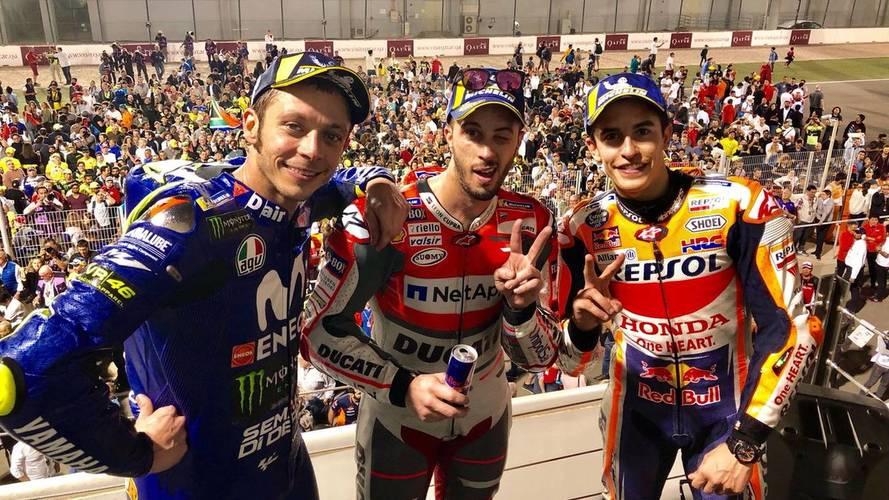 Dovizioso le vuelve a ganar el pulso a Márquez y vence MotoGP en Qatar