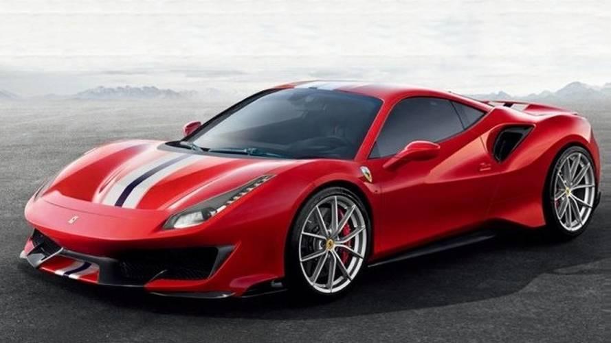 Ferrari 488 Pista images en fuite