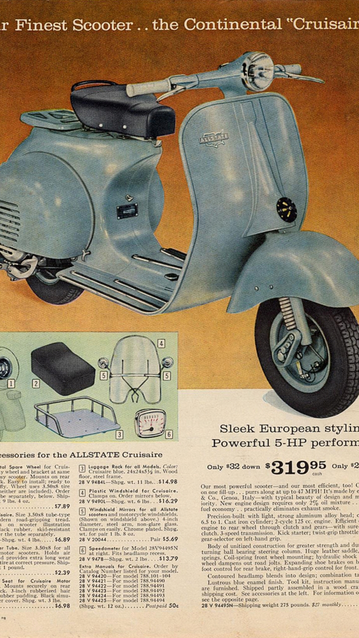 1951 Allstate Scooter 1954 Wiring Diagram Schematic Cycleweird Moto Mail Part Motorcycles 720x1280