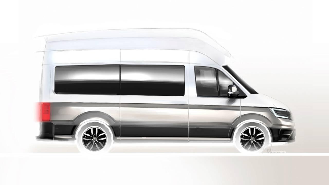 vw teases production ready california xxl camper van. Black Bedroom Furniture Sets. Home Design Ideas