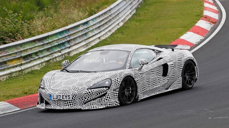 McLaren 600LT spied on the 'Ring showing off its aggressive cues