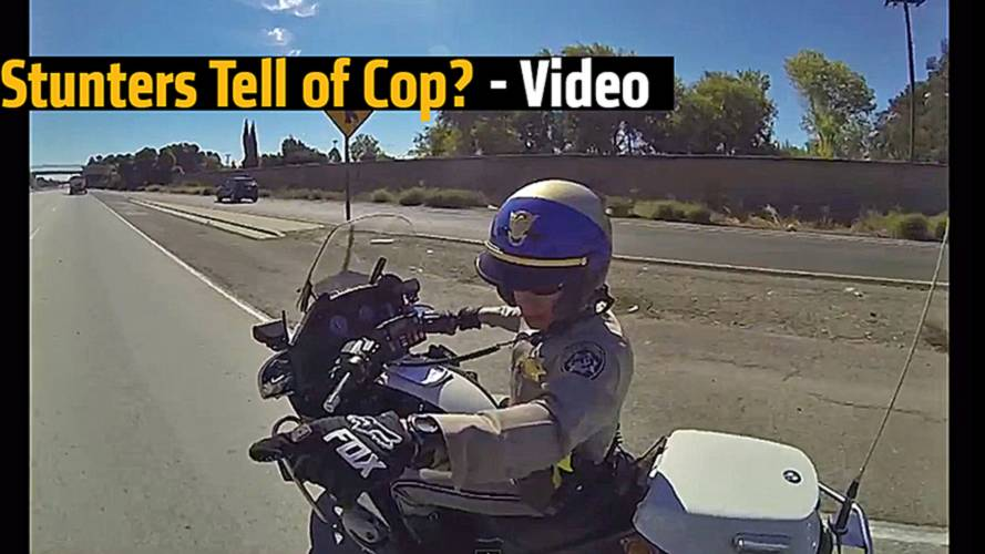 Stunters Tell Off Cop? - Video