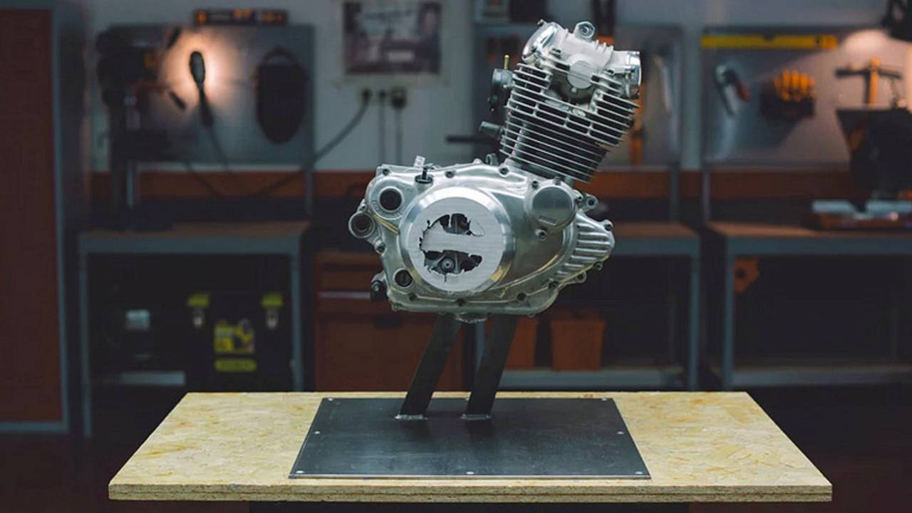 Watch Time-Lapse of Motorcycle Engine Being Ground into Dust