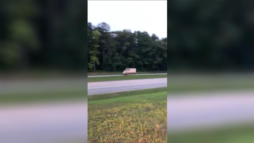 Watch Police Pursue Stolen Tank Like It's Real-World GTA