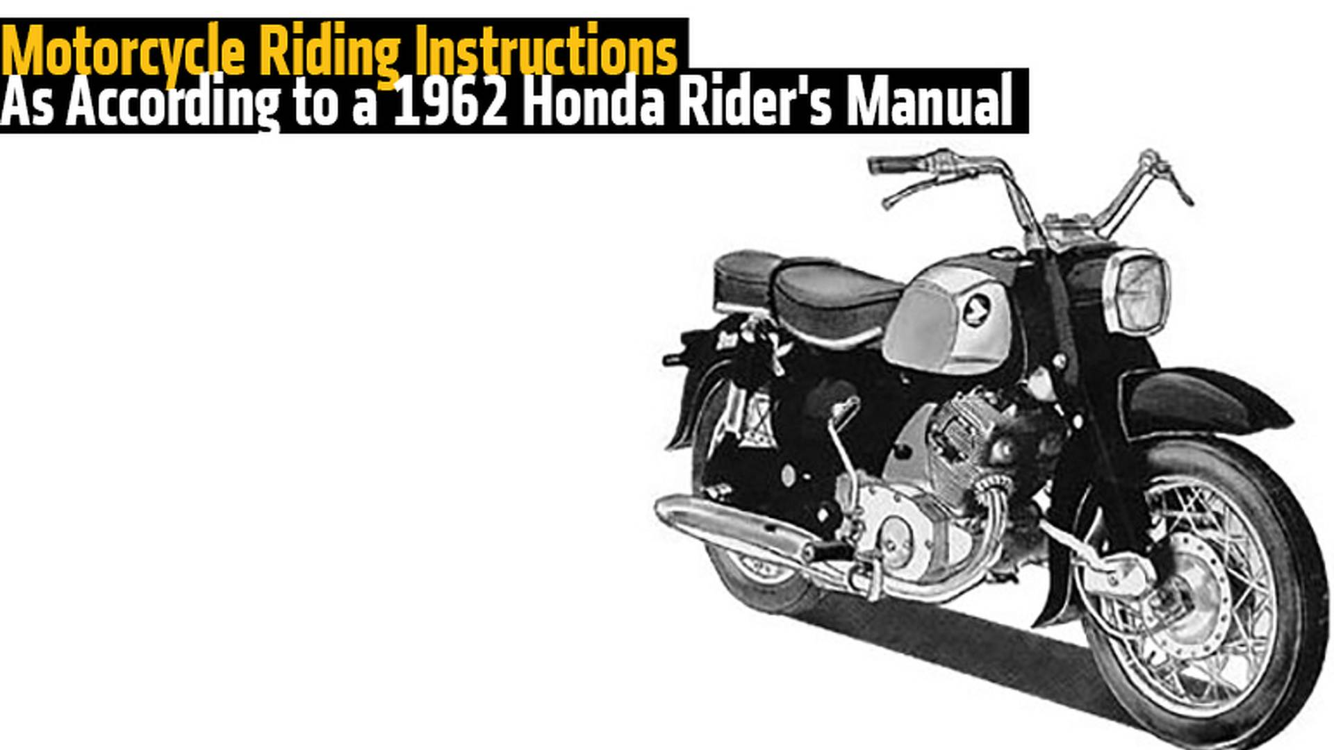 ... Array - retro motorcycle riding lesson 1962 honda rider u0027s manual  rh rideapart ...