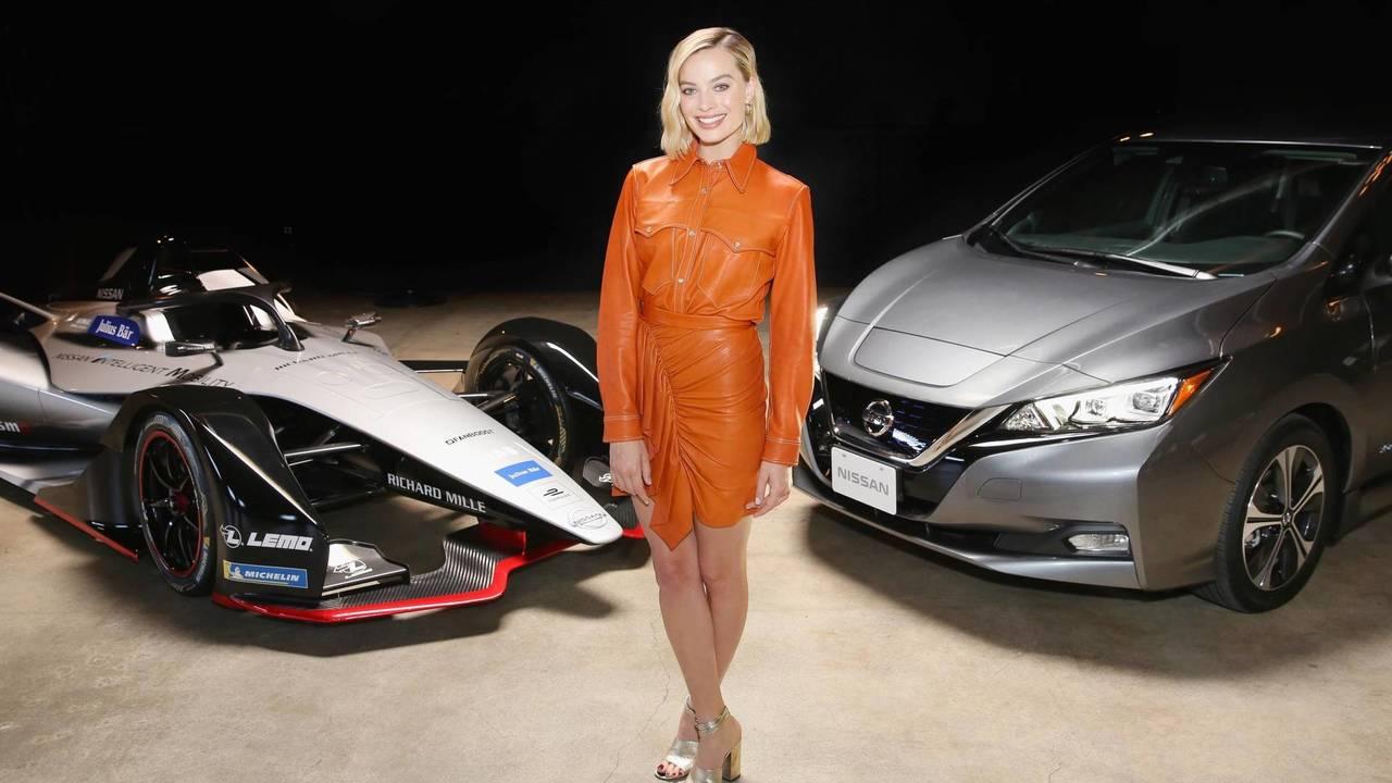 Margot Robbie helps launch Nissan Formula E