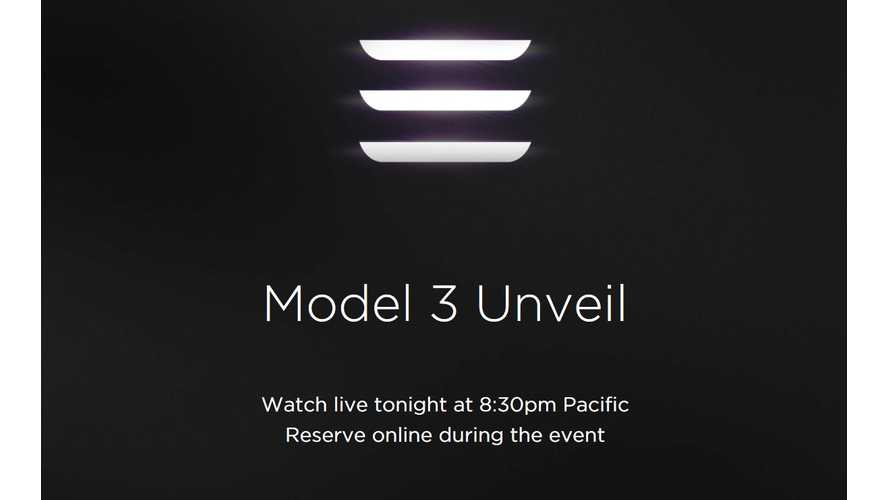 Scared Of Breaking The Internet, Tesla Will Open Online Model 3 Orders An Hour Early - From 7:30 PM (PT)