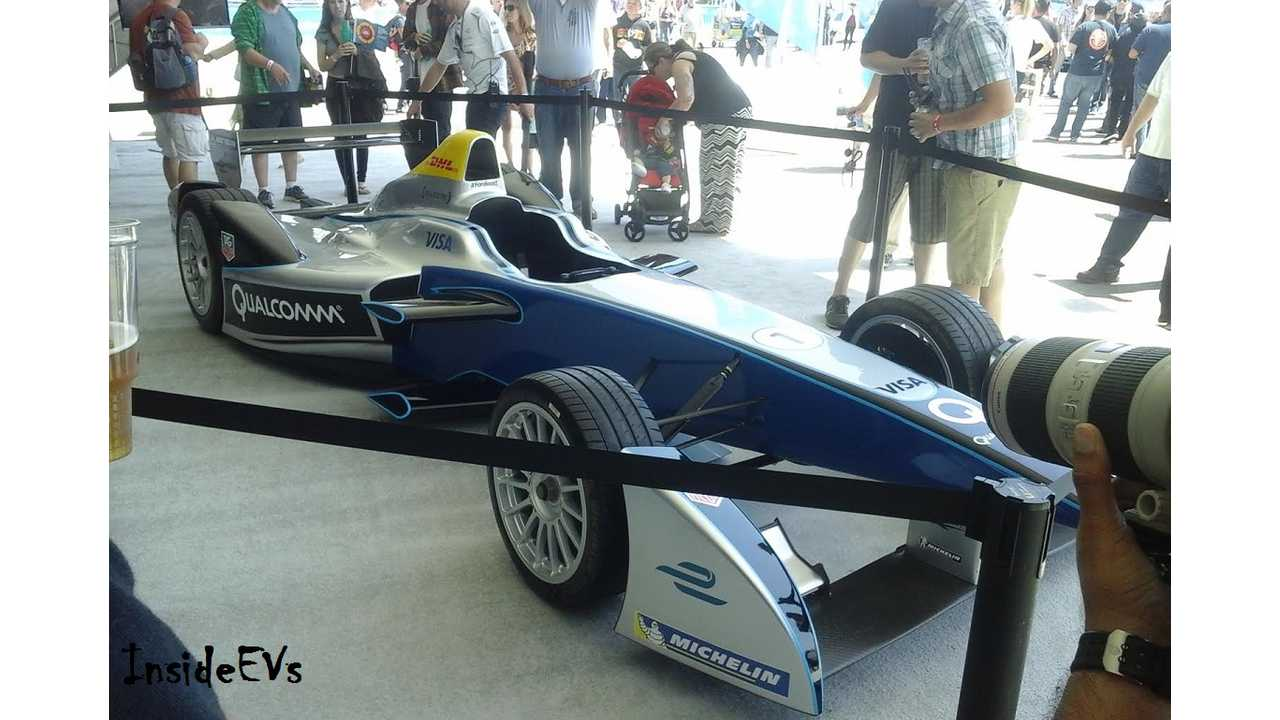Formula E race car on display