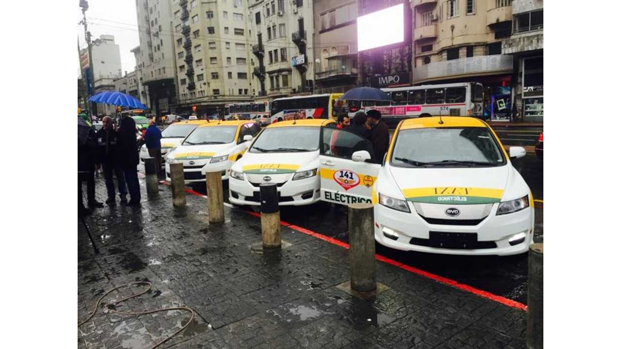 Uruguay Adds 50 BYD e6 Taxis To Fleet