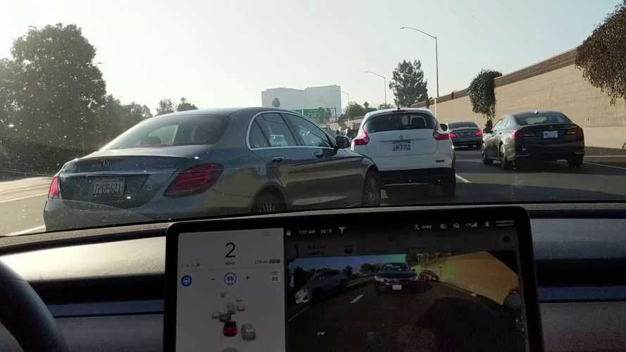 Watch Tesla Model 3 Navigate On Autopilot Versus Dreadful LA Traffic