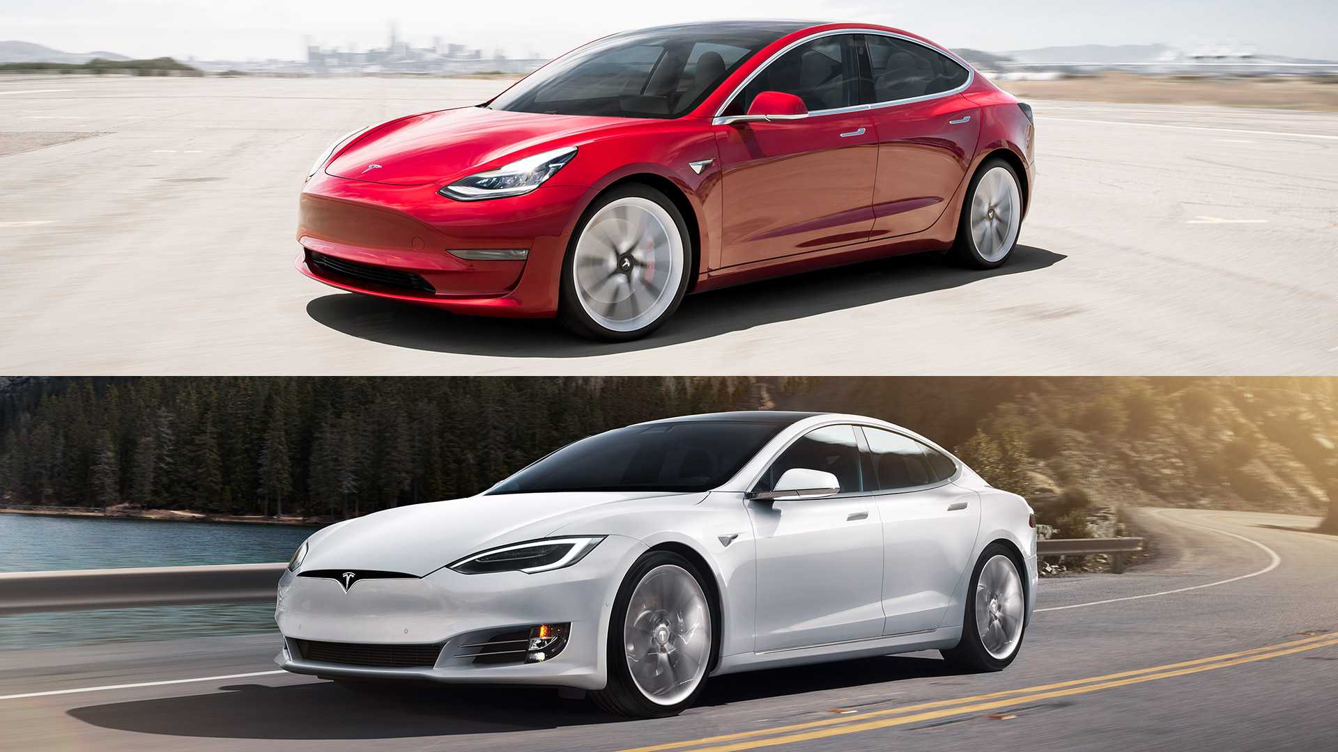 Ev Comparison Tesla Model S Versus Tesla Model 3