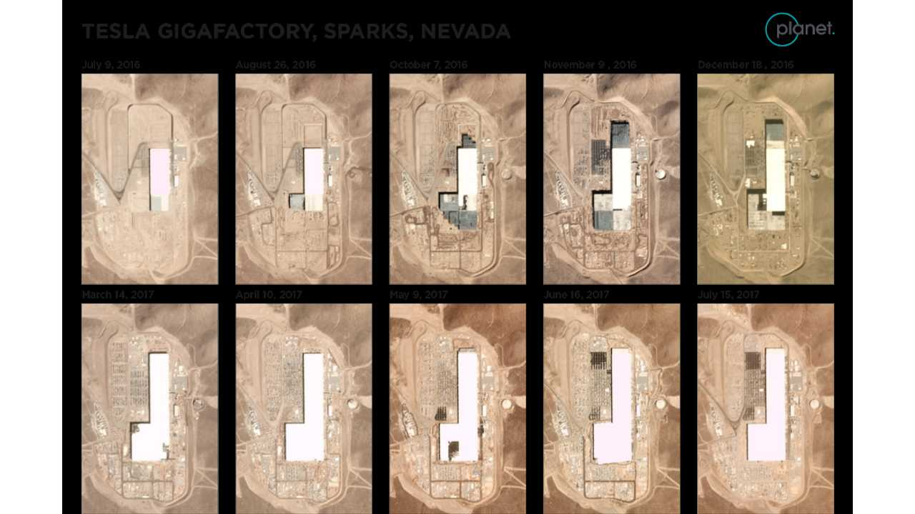 Planet Lab's satellite imagery of Tesla Gigafactory (source: Genscape)