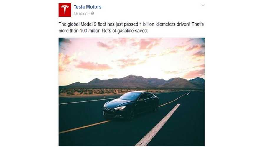 Global Tesla Model S Fleet Surpasses 1 Billion Kilometers Driven