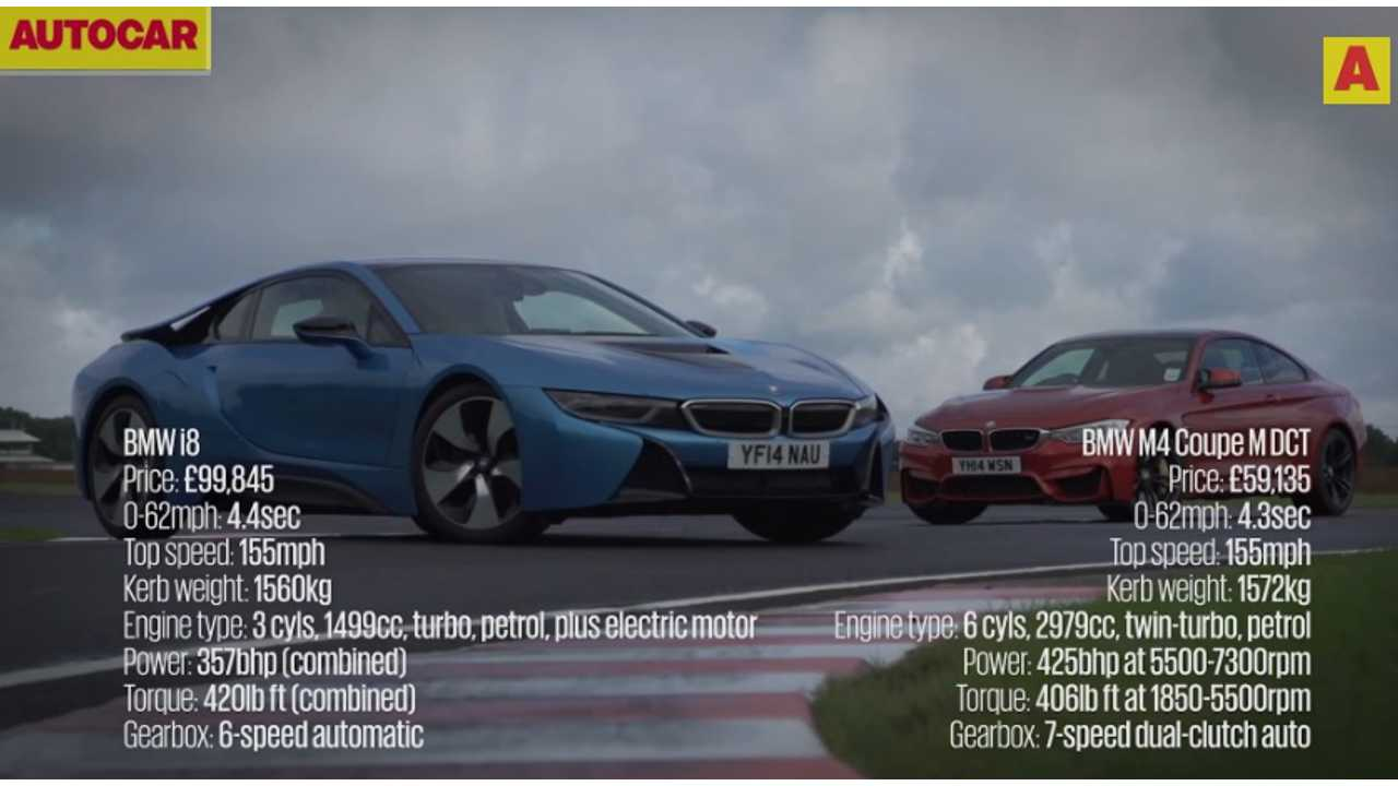 BMW i8 versus M4 - track battle