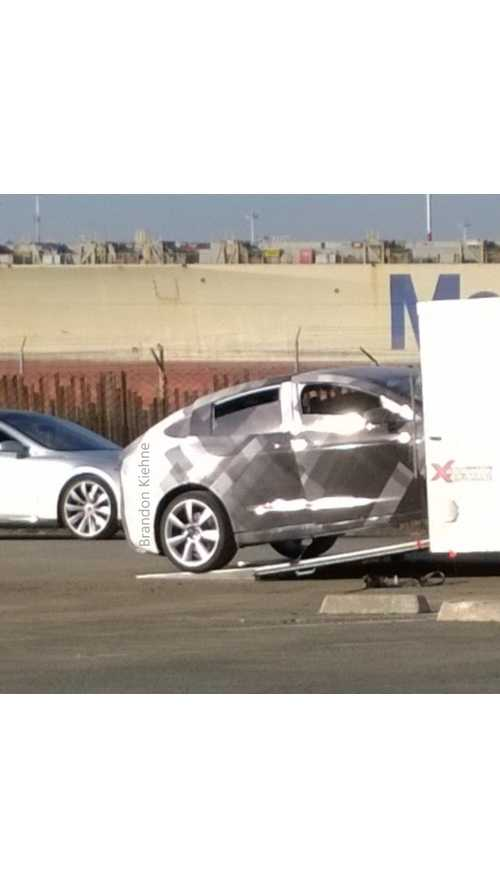 First Tesla Model X Caught Testing In Camo - Video/Image