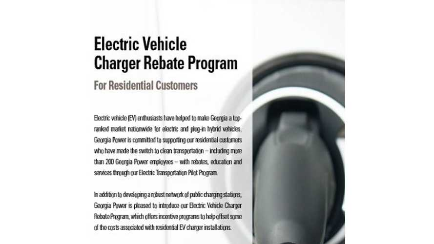 Georgia Power Offers $250 Rebate On EVSE Installs