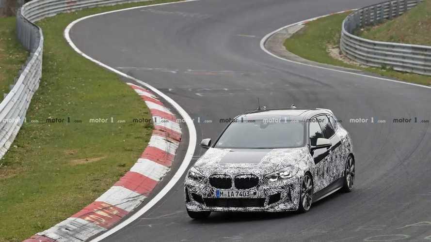 2020 BMW M135i spy photos
