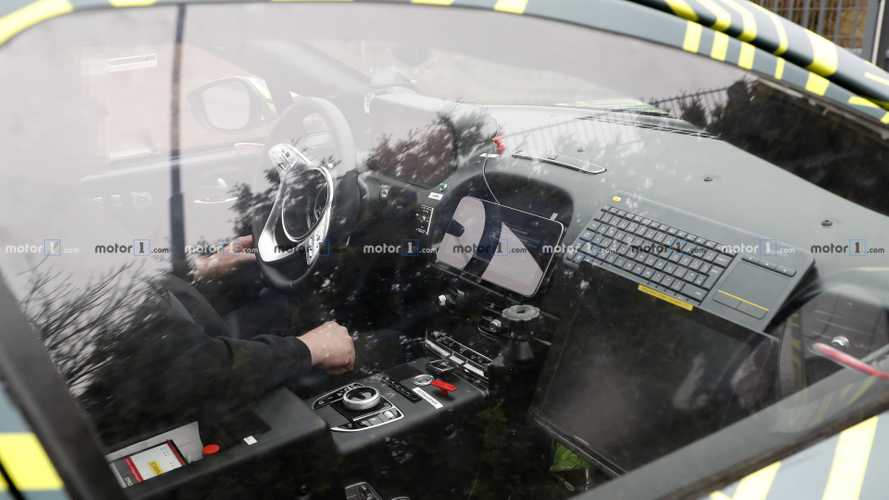 Aston Martin DBX first interior spy photos