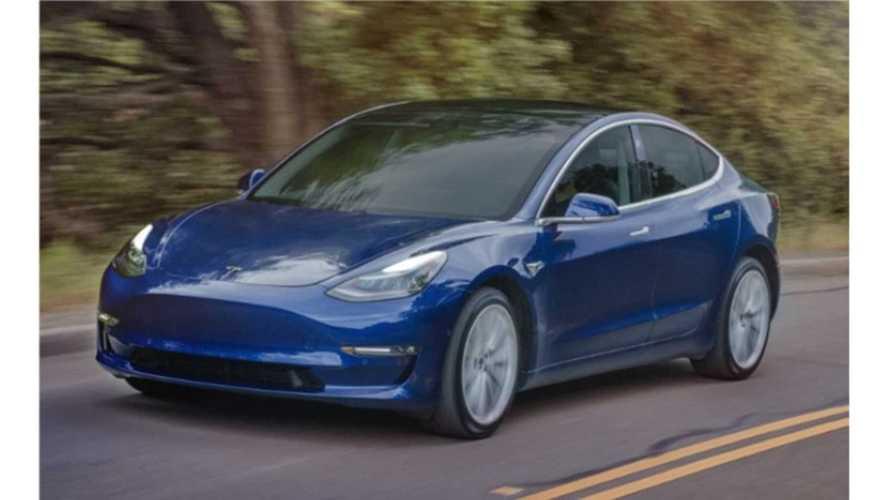 Long-Range 310-Mile Tesla Model 3 Appears To Return 126 MPGe