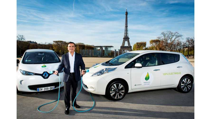 Renault-Nissan Alliance Cumulative Electric Vehicle Sales Approach 500,000