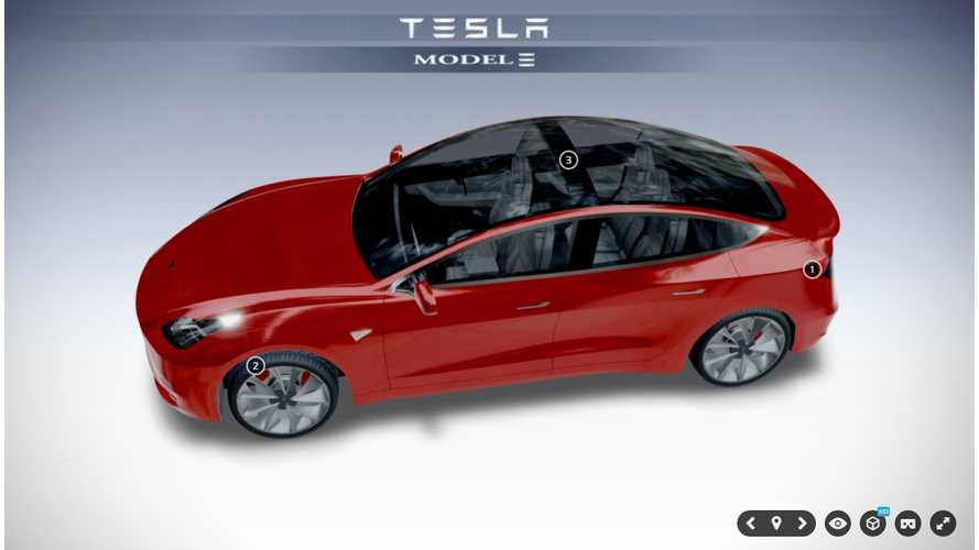 Tesla Model 3 Sedan - Interactive 360 Degree Renders (Update)